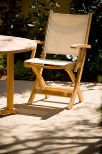 Outdoor Dining Chair and Tableの写真素材 [FYI01997134]