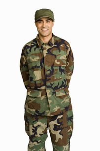 Male soldier wearing camouflageの写真素材 [FYI01997224]