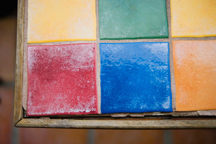Colorfully Tiled Tableの写真素材 [FYI01997350]