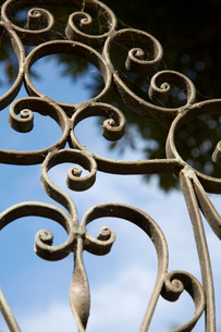 Detail of Wrought Iron Gateの写真素材 [FYI01997352]