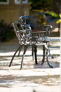 Wraught Iron Outdoor Chairsの写真素材 [FYI01997797]