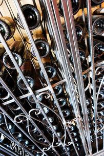 Wrought Iron Wine Rackの写真素材 [FYI01997958]