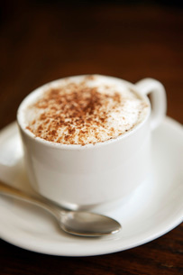 Close up of cappuccinoの写真素材 [FYI01998051]