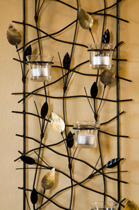 Wraught Iron Tealight Candle Rackの写真素材 [FYI01998054]