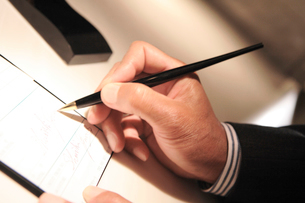 クレジットカードのサインの写真素材 [FYI01999195]