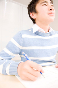 授業中の男子中学生の写真素材 [FYI02004490]