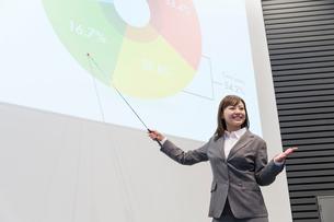 プレゼンテーションをするビジネスウーマンの写真素材 [FYI02006115]