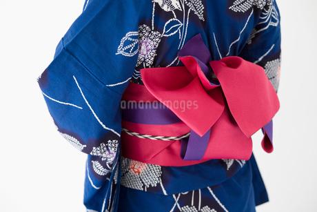 変わり結びの浴衣の帯の写真素材 [FYI02011214]