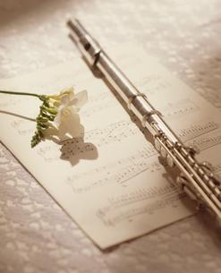 楽譜とフルートの写真素材 [FYI02012231]