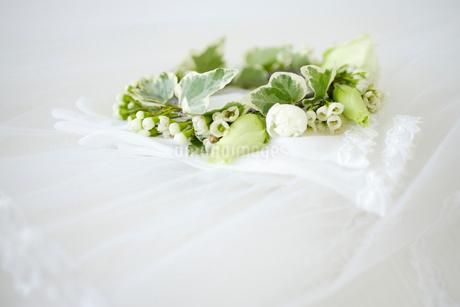 ベールと花束の写真素材 [FYI02014369]