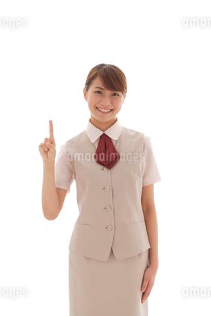 制服姿の20代OLの写真素材 [FYI02014753]