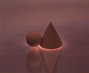 三角すいと球体の写真素材 [FYI02015505]
