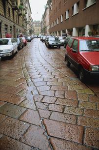 敷石の道の写真素材 [FYI02015630]
