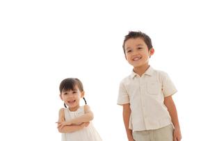 男の子と女の子のポートフォリオの写真素材 [FYI02016322]