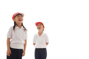 体操着を着た男の子と女の子の写真素材 [FYI02016370]