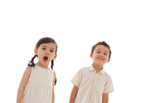 男の子と女の子のポートフォリオの写真素材 [FYI02016384]