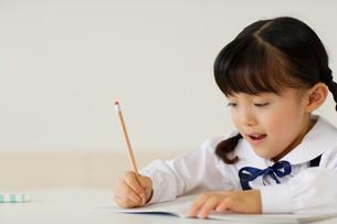 勉強する女の子のポートフォリオの写真素材 [FYI02016688]