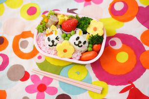 子供のキャラクター弁当の写真素材 [FYI02017979]