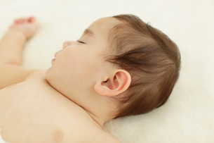 赤ちゃんの寝顔の写真素材 [FYI02020168]