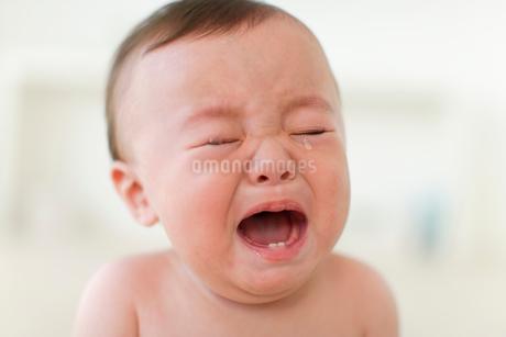 泣いている男の子の赤ちゃんの写真素材 [FYI02020287]