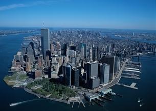 マンハッタン空撮の写真素材 [FYI02022236]
