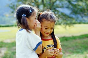 内緒話をする女の子の写真素材 [FYI02023159]