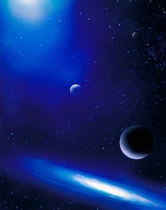 宇宙の銀河や惑星の写真素材 [FYI02024340]