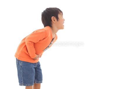 体調不良の男の子の写真素材 [FYI02025510]