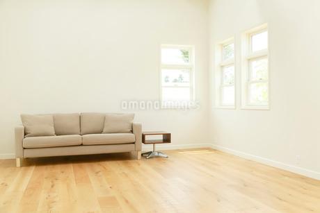 ソファーのあるシンプルモダンなリビングルームの写真素材 [FYI02026095]