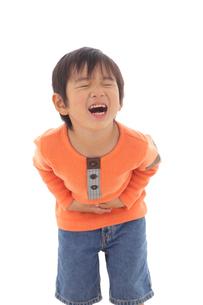 体調不良の男の子の写真素材 [FYI02026586]