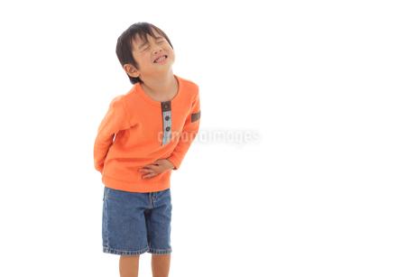 体調不良の男の子の写真素材 [FYI02027777]