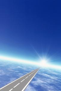 地球と道路イメージ CGのイラスト素材 [FYI02028596]