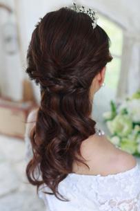 花嫁のヘアースタイルの写真素材 [FYI02029453]