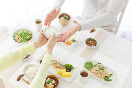 朝食を食べる新婚夫婦の写真素材 [FYI02029968]