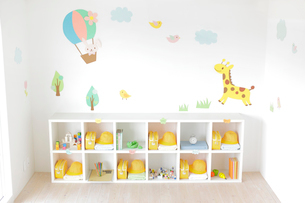無人の幼稚園の教室の写真素材 [FYI02030059]
