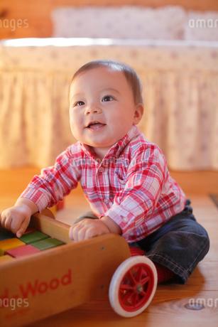 積み木で遊ぶ赤ちゃんの写真素材 [FYI02030159]