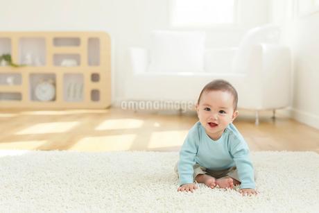 リビングに座る赤ちゃんの写真素材 [FYI02030421]