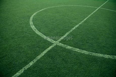 誰もいないサッカー場の写真素材 [FYI02034590]
