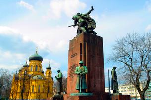 ソビエト兵の記念碑の写真素材 [FYI02035699]
