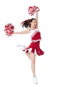 踊るチアリーダーの写真素材 [FYI02035746]