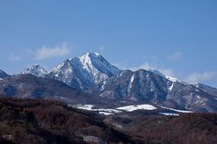 雪の八ヶ岳の写真素材 [FYI02035828]