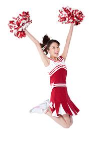 踊るチアリーダーの写真素材 [FYI02035989]