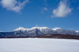 雪の積もった八ヶ岳の写真素材 [FYI02036681]