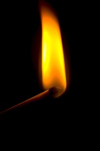 火のついたマッチ棒の写真素材 [FYI02036829]
