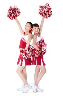 踊るチアリーダーの写真素材 [FYI02037282]