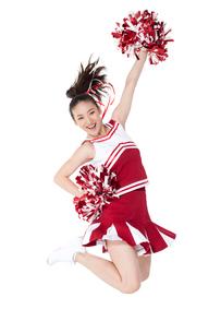 踊るチアリーダーの写真素材 [FYI02037981]