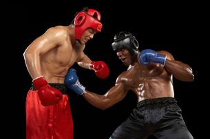 試合をするボクサーの写真素材 [FYI02038136]