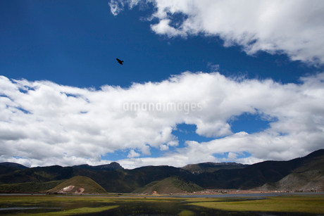 秋のシャングリラの風景の写真素材 [FYI02038256]