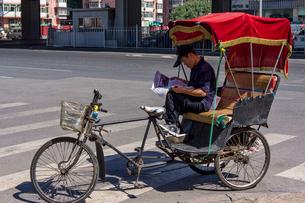 北京の三輪車の写真素材 [FYI02038582]