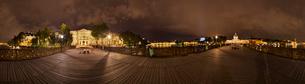 夜の芸術橋の写真素材 [FYI02039486]